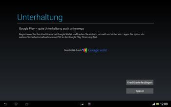 Sony Xperia Tablet Z LTE - Apps - Konto anlegen und einrichten - Schritt 23