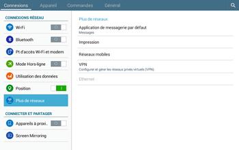 Samsung T535 Galaxy Tab 4 10.1 - Internet et roaming de données - Désactivation du roaming de données - Étape 5