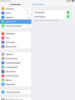 Apple iPad Pro 9.7 inch - iOS 12 - Ausland - Auslandskosten vermeiden - Schritt 7