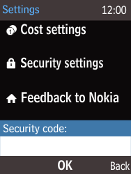 Nokia 225 - Mobile phone - Resetting to factory settings - Step 4