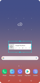 Samsung Galaxy Note9 - Getting started - Installing widgets and applications on your start screen - Step 7