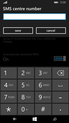 Microsoft Lumia 640 - SMS - Manual configuration - Step 7