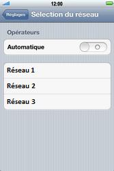Apple iPhone 4 S - Réseau - Sélection manuelle du réseau - Étape 5