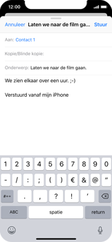 Apple iPhone X - iOS 12 - E-mail - hoe te versturen - Stap 8