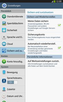 Samsung Galaxy Tab 3 8-0 LTE - Gerät - Zurücksetzen auf die Werkseinstellungen - Schritt 5