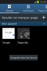 Samsung S6810P Galaxy Fame - Internet - Navigation sur Internet - Étape 11
