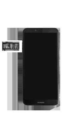 Huawei Y6 (2018) - Premiers pas - Insérer la carte SIM - Étape 4