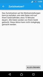 Sony E6553 Xperia Z3+ - Fehlerbehebung - Handy zurücksetzen - Schritt 9