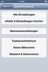 Apple iPhone 4 - Fehlerbehebung - Handy zurücksetzen - 7 / 10