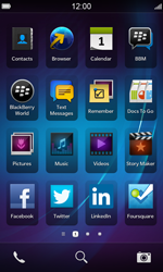 BlackBerry Z10 - Getting started - Personalising your Start screen - Step 1