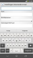 Sony D2303 Xperia M2 - E-mail - Account instellen (IMAP zonder SMTP-verificatie) - Stap 9