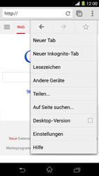 Sony Xperia Z1 - Internet und Datenroaming - Verwenden des Internets - Schritt 9