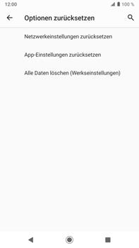 Sony Xperia XZ2 Premium - Android Pie - Fehlerbehebung - Handy zurücksetzen - Schritt 9