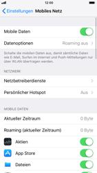 Apple iPhone 6s iOS 11 - Internet und Datenroaming - Prüfen, ob Datenkonnektivität aktiviert ist - Schritt 5