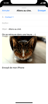 Apple iPhone X - E-mail - envoyer un e-mail - Étape 13
