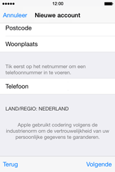 Apple iPhone 4S (iOS 8) - apps - account instellen - stap 25
