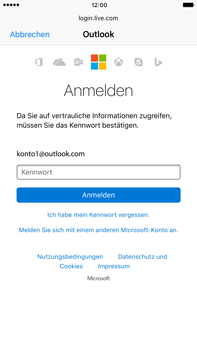 Apple iPhone 6s Plus - iOS 10 - E-Mail - Konto einrichten (outlook) - Schritt 8