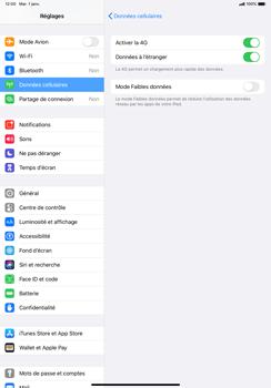 Apple iPad Pro 11 (2018) - iPadOS 13 - Internet et roaming de données - Désactivation du roaming de données - Étape 5
