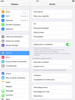 Apple iPad 4th generation iOS 7 - Internet - activer ou désactiver - Étape 3