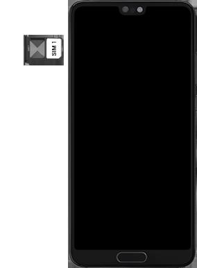 Huawei P20 - Android Pie - SIM-Karte - Einlegen - Schritt 5