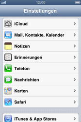 Apple iPhone 3GS - E-Mail - Manuelle Konfiguration - Schritt 3