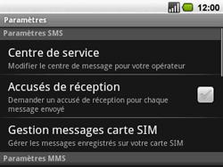 Acer BeTouch E130 - SMS - configuration manuelle - Étape 5