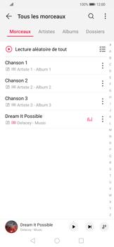 Huawei P Smart 2020 - Photos, vidéos, musique - Ecouter de la musique - Étape 4