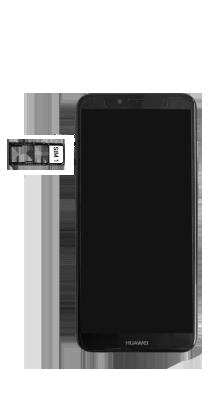 Huawei Y6 (2018) - Premiers pas - Insérer la carte SIM - Étape 5
