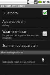 Samsung I7500 Galaxy - Bluetooth - koppelen met ander apparaat - Stap 11