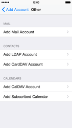 Apple iPhone 5c - iOS 8 - Email - Manual configuration POP3 with SMTP verification - Step 6