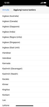 Apple iPhone 11 Pro Max - Operazioni iniziali - Come aggiungere una lingua alla tastiera - Fase 7
