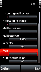 Nokia 5800 Xpress Music - Email - Manual configuration POP3 with SMTP verification - Step 24