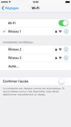 Apple iPhone 6 iOS 8 - Wifi - configuration manuelle - Étape 6