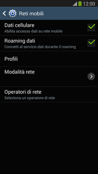 Samsung Galaxy Note III LTE - Internet e roaming dati - Disattivazione del roaming dati - Fase 6