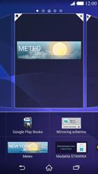 Sony Xperia Z2 - Operazioni iniziali - Installazione di widget e applicazioni nella schermata iniziale - Fase 7