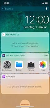 Apple iPhone X - iOS 11 - Sperrbildschirm und Benachrichtigungen - 4 / 10