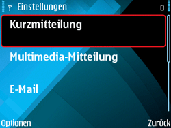 Nokia E71 - SMS - Manuelle Konfiguration - Schritt 7