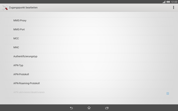 Sony Xperia Tablet Z2 LTE - Internet - Manuelle Konfiguration - Schritt 12