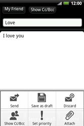 HTC A510e Wildfire S - E-mail - Sending emails - Step 9