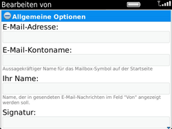 BlackBerry Bold Touch - E-Mail - Konto einrichten - 1 / 1