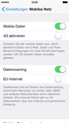 Apple iPhone 5s - iOS 8 - Internet und Datenroaming - Deaktivieren von Datenroaming - Schritt 4