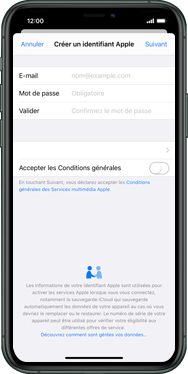 Apple iPhone XS Max - iOS 13 - Applications - Créer un compte - Étape 9