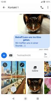 Sony Xperia XZ2 - Android Pie - MMS - Erstellen und senden - Schritt 21