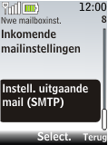 Nokia 2720 fold - E-mail - Handmatig instellen - Stap 21