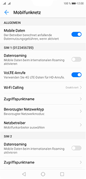 Huawei P20 Pro - Ausland - Im Ausland surfen – Datenroaming - 7 / 11