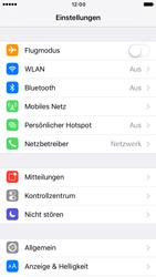 Apple iPhone 6 iOS 10 - Internet und Datenroaming - Deaktivieren von Datenroaming - Schritt 3
