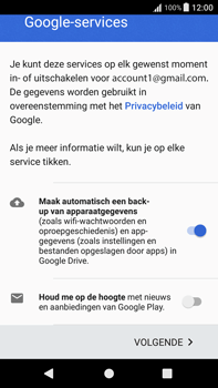 Sony Xperia XA1 Plus (G3421) - Applicaties - Account aanmaken - Stap 17