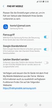 Samsung Galaxy S8 Plus - Datenschutz und Sicherheit - 'Mein Handy suchen' einschalten - 8 / 9