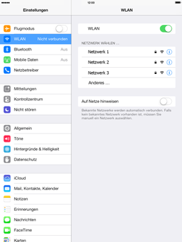 Apple iPad mini iOS 7 - WiFi - WiFi-Konfiguration - Schritt 5
