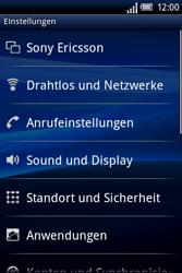 Sony Ericsson Xperia X8 - WLAN - Manuelle Konfiguration - Schritt 4